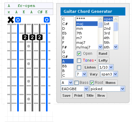 Bass Gootar Guitar Chord Generator And Scale Finder Programs