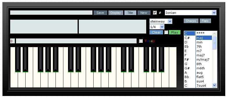 Gootar Piano Chord Generator and Scale Finder Programs    Millions
