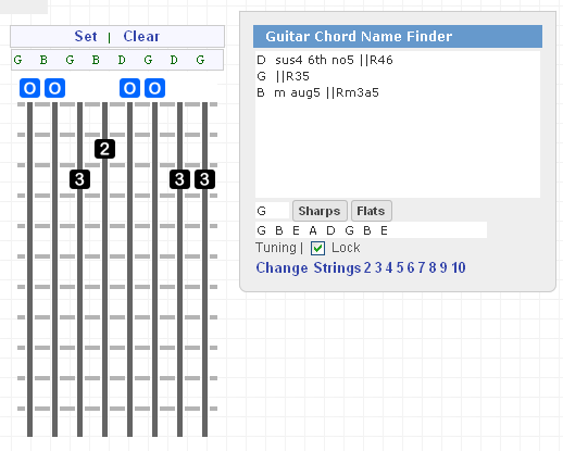 Any Amount Of Strings Guitar Chord Name Finder