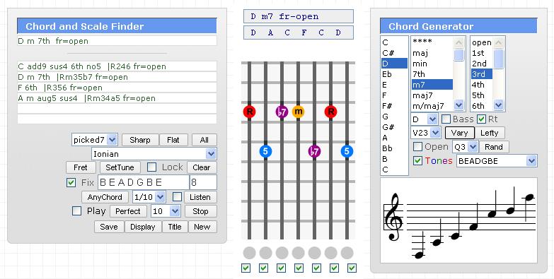 Seven String Guitar Chord Generator 7 String